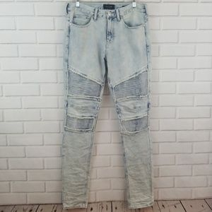 PacSun Stacked Skinny Distressed Acid Wash Jeans